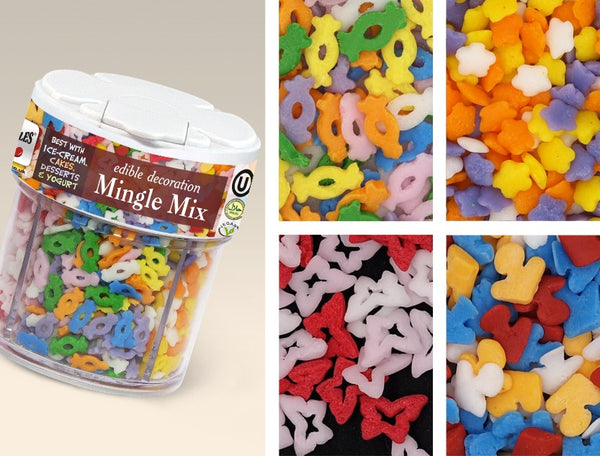 484 Mingle Mix 4 in 1 - Edible Cake Toppers Cake decorations for baking