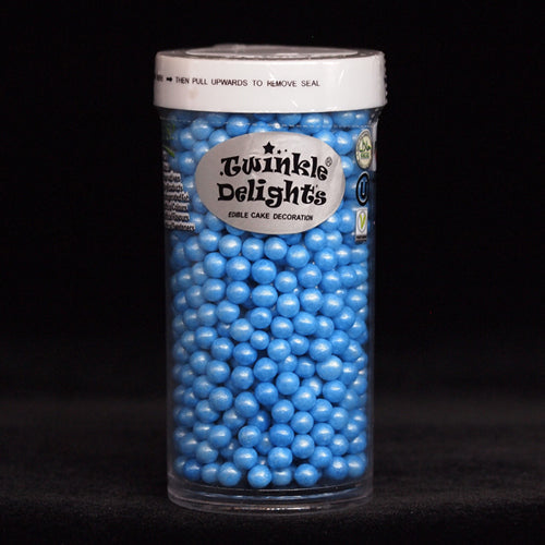 Natural 4mm Blue Nuts Dairy Soy Gluten GMO Free shimmer Pearls