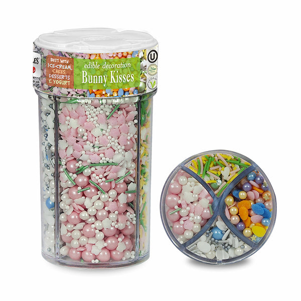 Bunny Kisses Easter Sprinkles Mix Halal Kosher Certified