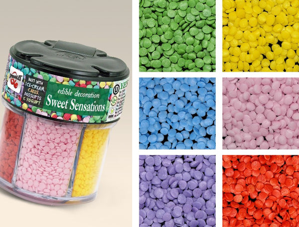 Sweet Dots-GMO Gluten Nuts FREE 100% Natural sprinkles for cake topper