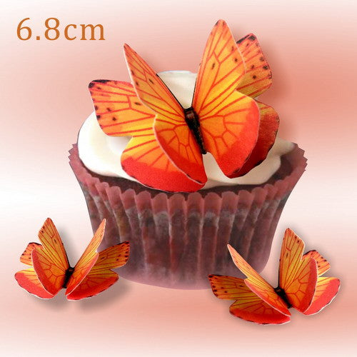 Precut DIY Edible Wafer Gluten GMO Dairy Sugar Free Double Butterfly