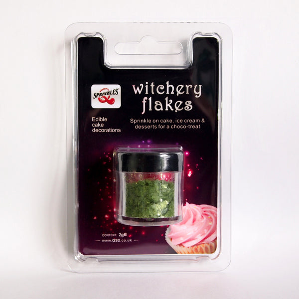Apple Green Witchery Flakes Dairy Free Edible Decoration