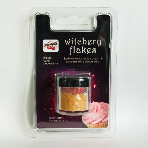 Pastel Peach Witchery Flakes Dairy Free Edible Decoration