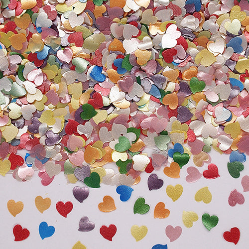 Rainbow Glitter Hearts Gluten Free Edible Decoration
