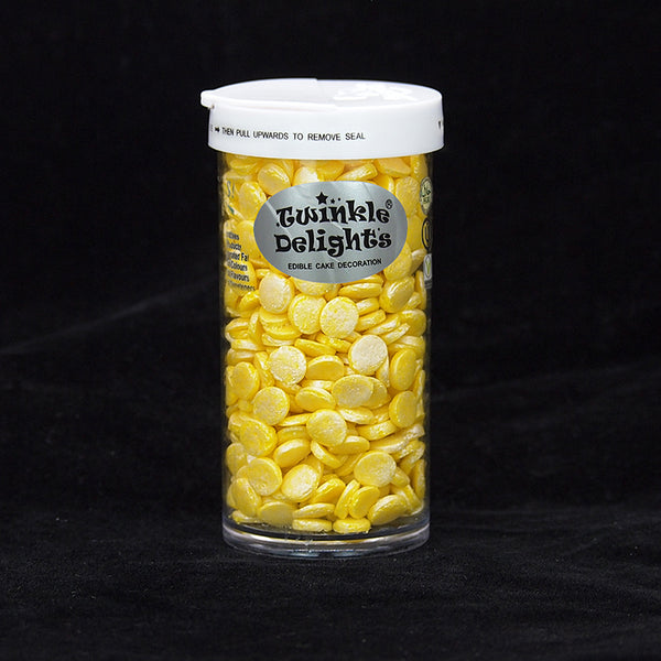 Natural Shimmer Yellow Confetti 8MM Big Sequins Gluten GMO Nuts Dairy Soy Free