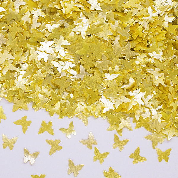 Yellow Glitter Butterflies Nut Free Edible Decoration