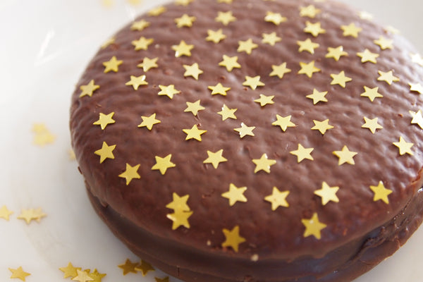 Holiday Glitter Stars Vegan Halal Certified Cake Decoration