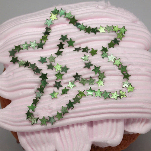 Holiday Glitter Stars Sugar Free Edible Decoration