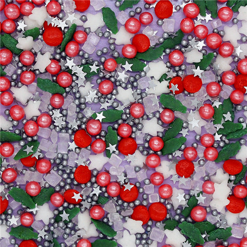 Holly Berry Christmas Sprinkles Mix Gluten Free Dairy Free