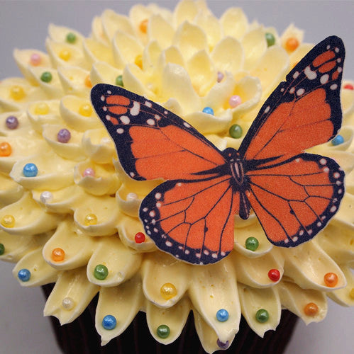 Edible Wafer Butterflies--vivid 05 precut Wafer Shapes