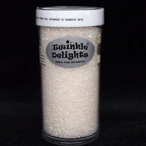 Natural White Shimmer Sugar Crystals Nuts Dairy Soy Gluten GMO Free