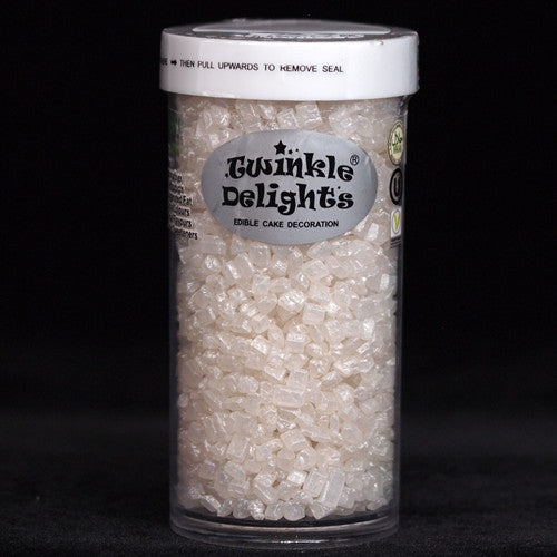 Natural White Shimmer Sparkling Sugar Nuts Dairy Soy Gluten GMO Free