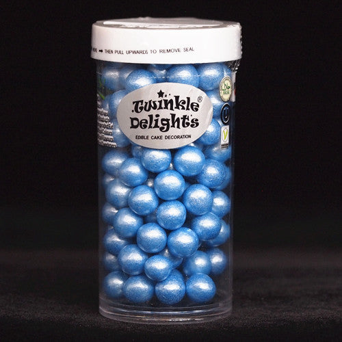 Natural 8mm Blue Nuts Dairy Soy Gluten GMO Free 100g shimmer Pearls