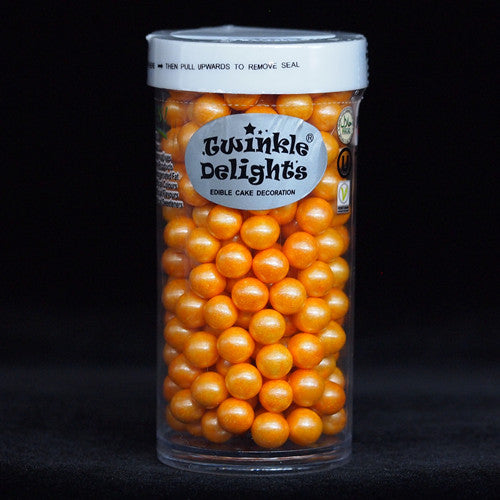Natural 6mm Orange Nuts Dairy Soy Gluten GMO Free shimmer Pearls