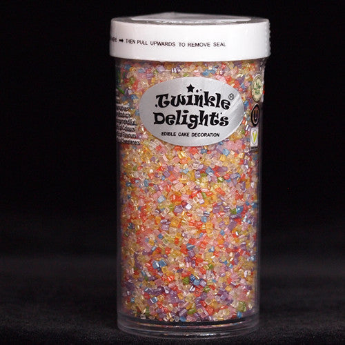 Natural Rainbow Shimmer Sugar Crystals Nuts Dairy Soy Gluten GMO Free