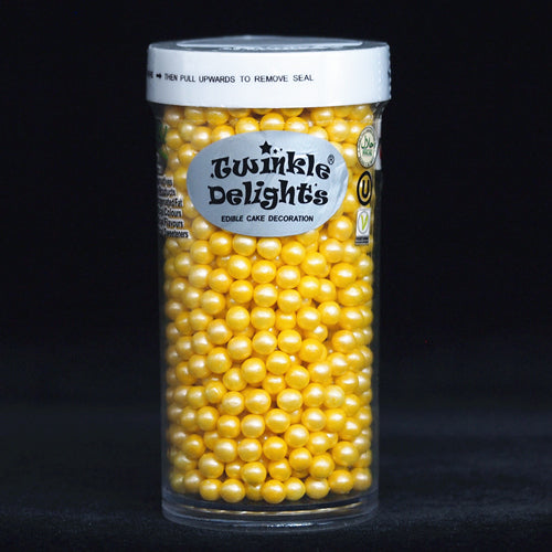 Natural 4mm Yellow Nuts Dairy Soy Gluten GMO Free shimmer Pearls