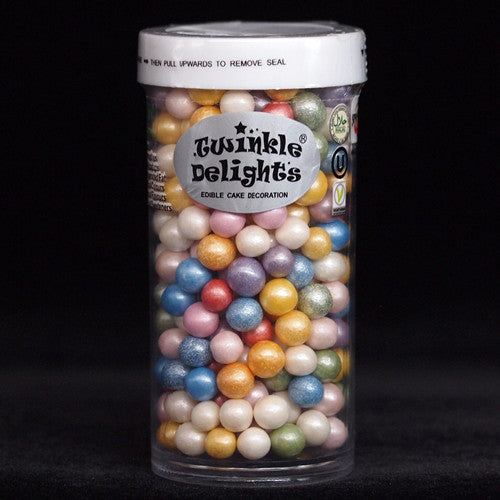 Natural Nuts Dairy Soy Gluten GMO Free 6mm Rainbow shimmer Pearls
