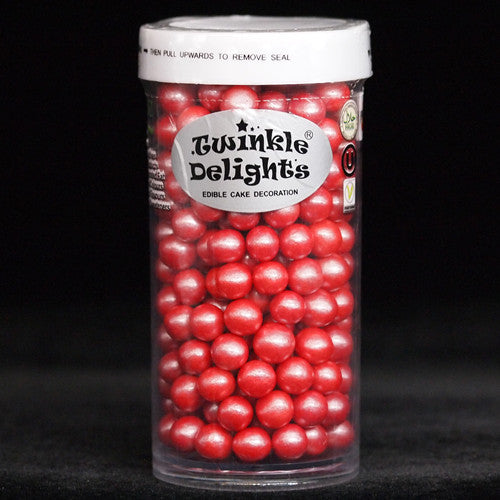 Natural 6mm Red Nuts Dairy Soy Gluten GMO Free shimmer Pearls