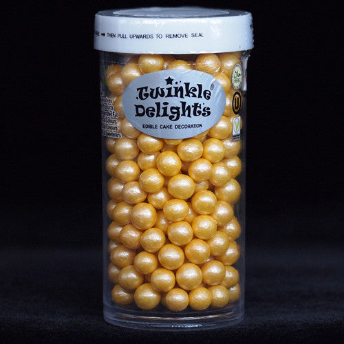 Natural 6mm Gold Nuts Dairy Soy Gluten GMO Free Metallic Pearls