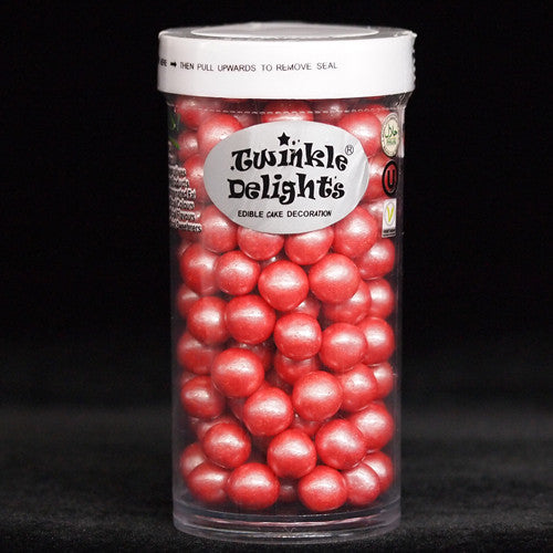Natural 8mm Red Nuts Dairy Soy Gluten GMO Free shimmer Pearls