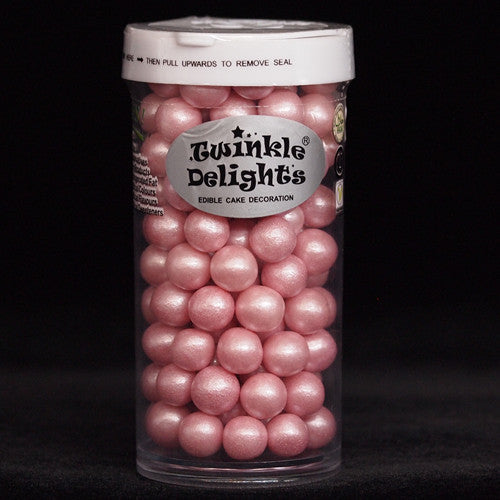 Shimmer Pink  8mm Pearls Nut Free Halal Kosher Certified