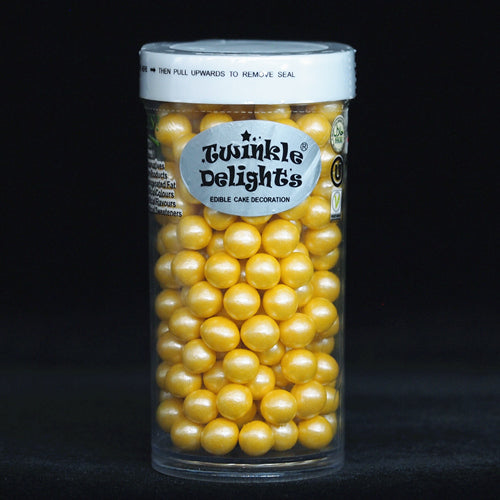 Natural 6mm Yellow Nuts Dairy Soy Gluten GMO Free shimmer Pearls
