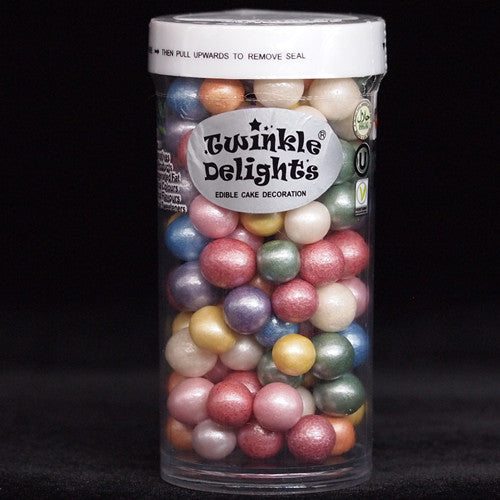 Natural Nuts Dairy Soy Gluten GMO Free 8mm rainbow shimmer Pearls