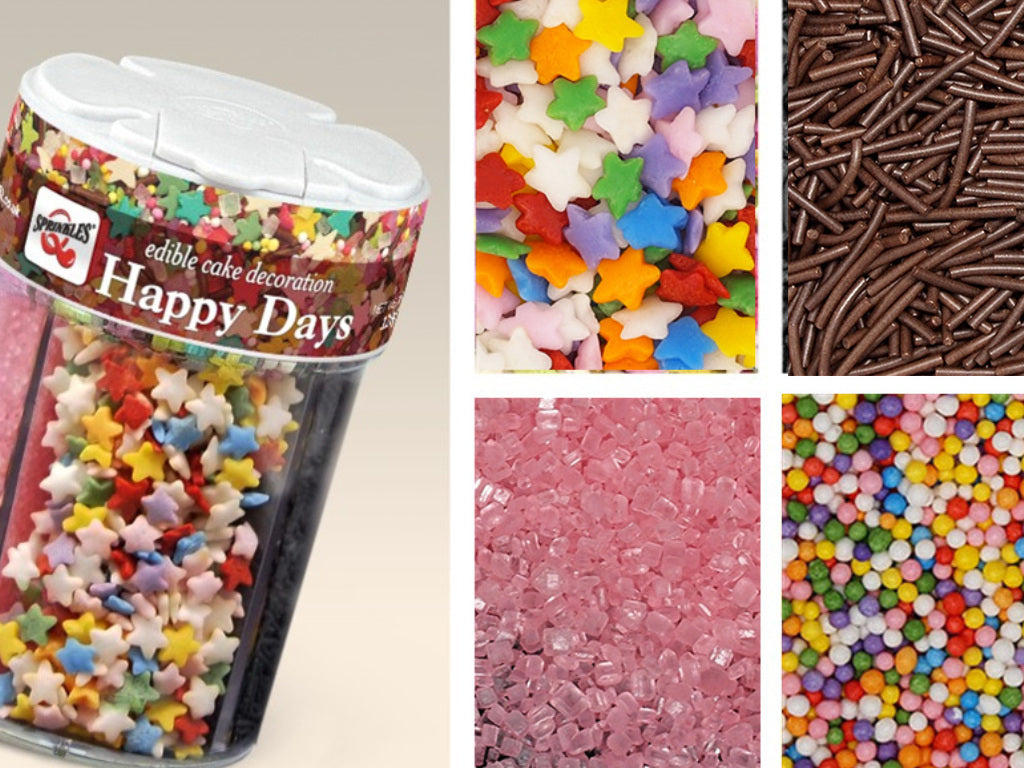 Happy Days 4in1 shaker Kosher Certified Edible Decoration
