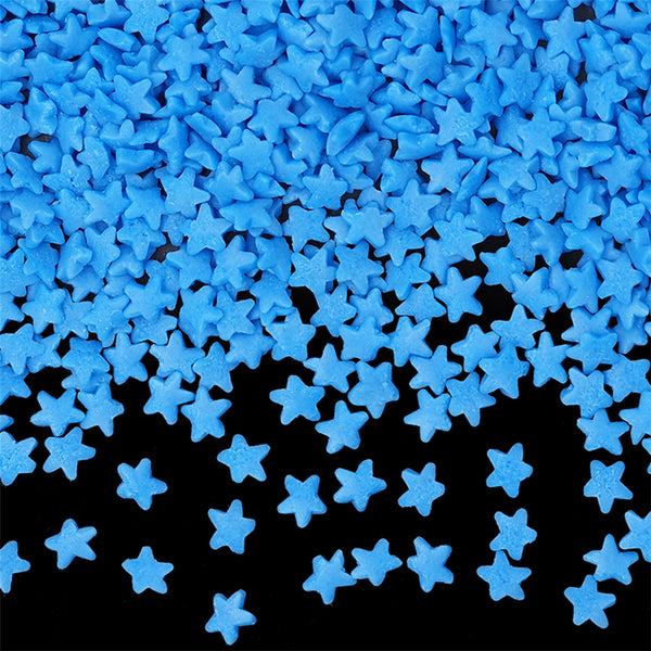 Blue Confetti Star No Gluten No Nut No Soy Cake Decoration