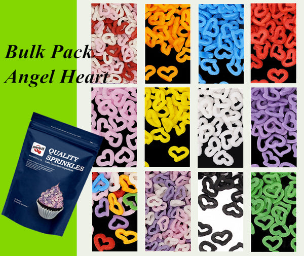 Bulk Pack Confetti Angel Heart No Soy No Gluten Cake Decoration