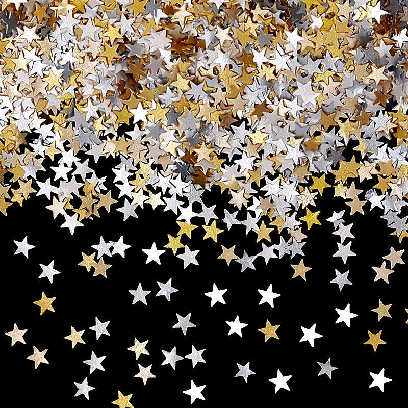 Holiday Glitter Stars Nut Free Edible Decoration