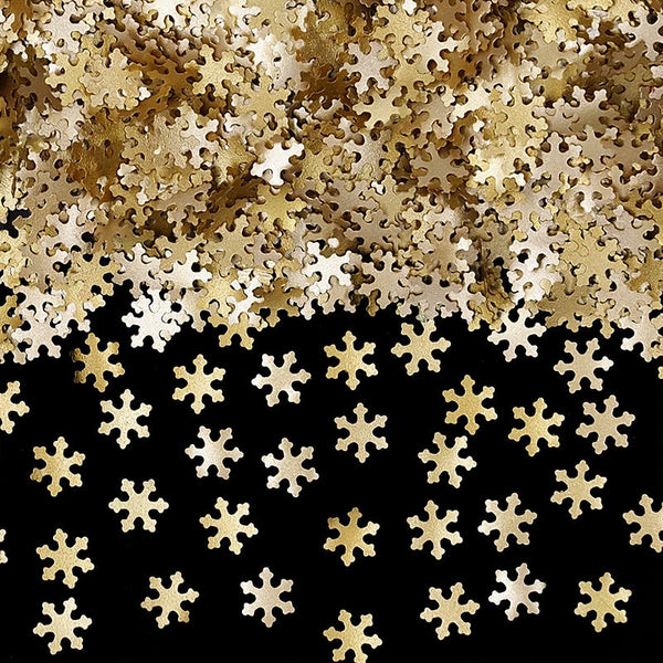 Gold Glitter Snowflakes Kosher Certified Edible Decoration
