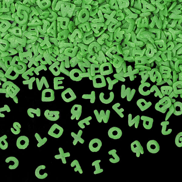 Natural Green Gluten GMO Nuts Dairy Soy Free Confetti Alphabets