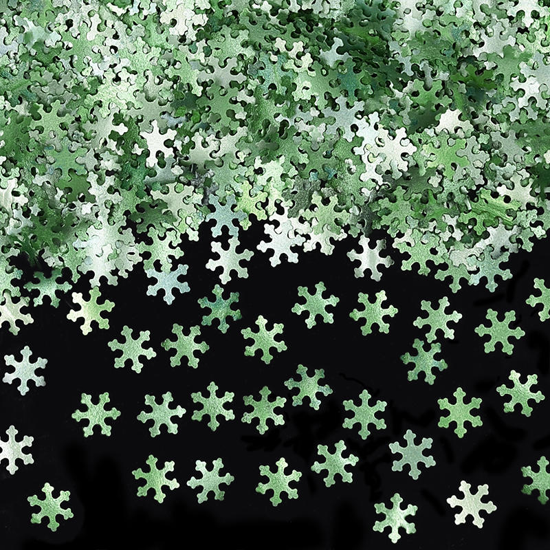 Natural Edible Green GMO Nuts Gluten Sugar Free Glitter Snowflakes