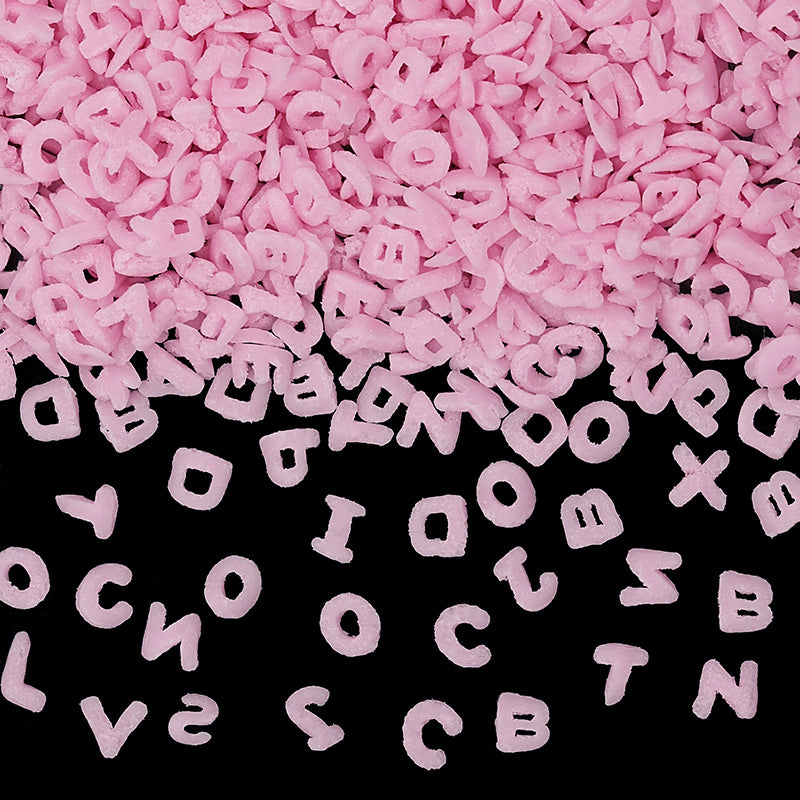 Natural Pink Gluten GMO Nuts Dairy Soy Free Confetti Alphabets
