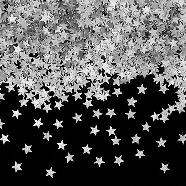 Silver Glitter Stars Gluten Free Edible Decoration
