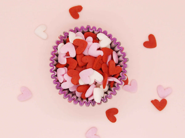Valentine Confetti Super Heart Dairy Free Edible Decoration