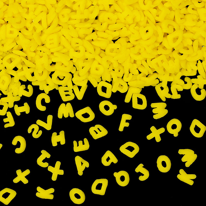 Natural Yellow Gluten GMO Nuts Dairy Soy Free Confetti Alphabets