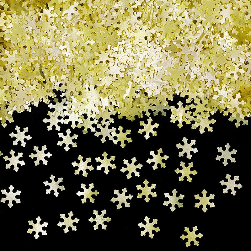 Yellow Glitter Snowflakes Dairy Free Edible Decoration