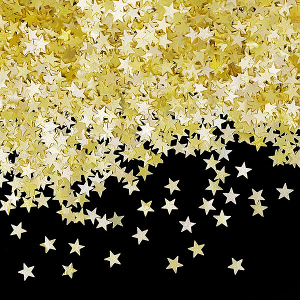 Yellow Glitter Stars Kosher Certified Edible Decoration