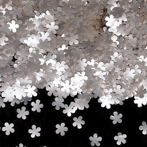 White Glitter Flowers No Soy Non Gmos Cake Decoration