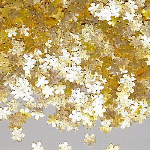 Yellow Glitter Flowers Sugar Free Edible Decoration