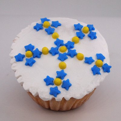 Natural White & Blue Gluten GMO Nuts Dairy Soy Free Confetti Star