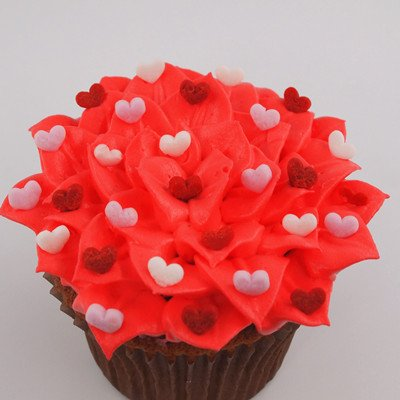 Red Confetti Mini Heart No Soy Nuts Free Vegan Decoration