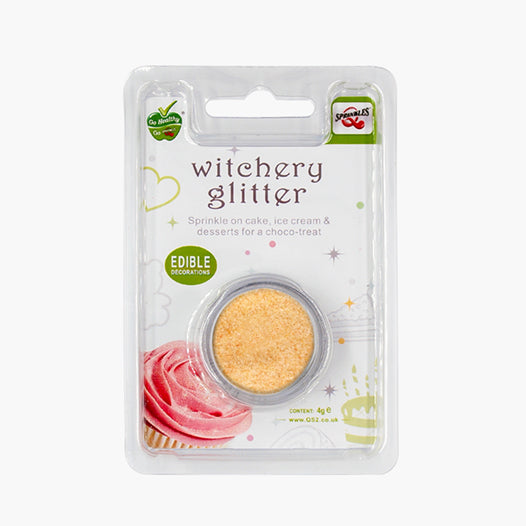 Pastel Peach Witchery Glitter Dairy Free Edible Decoration