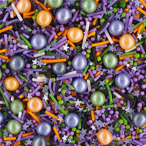 Spooky Shadow Sprinkles Mix Gluten GMO Nut Dairy Soy Free Cake Decoration