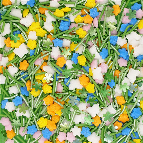 Spring Flower Sprinkles Mix Gluten GMO Nut Dairy Soy Free Cake Decoration