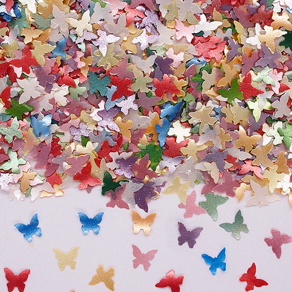 Rainbow Glitter Butterflies Gluten Free Edible Decoration