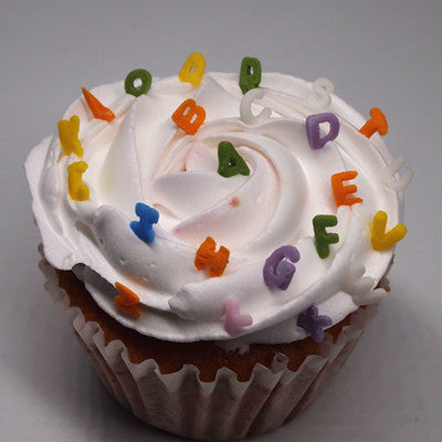 Rainbow Confetti Alphabets No Nut No Soy Cake Decoration