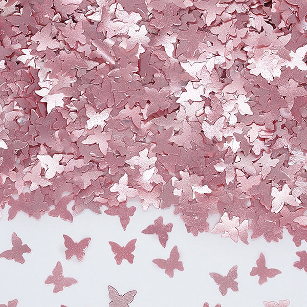 Pink Glitter Butterflies No Soy Non Gmos Cake Decoration